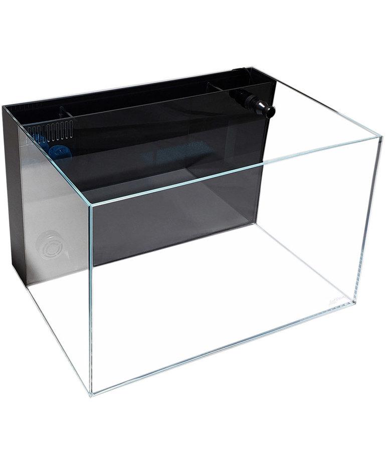Lifegard LIFEGARD AQUATICS 45° Low Iron Ultra Clear Aquarium with Built-In Back Filter - 9.98 gal