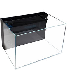 Lifegard LIFEGARD AQUATICS 45° Low Iron Ultra Clear Aquarium with Built-In Back Filter - 24.09 gal