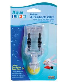 Penn Plax PENN PLAX Aqua Life Deluxe Air+Check Valve - 2 Outlets