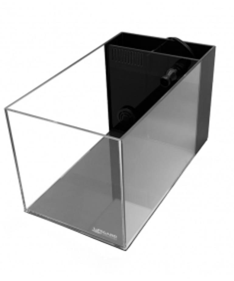 Lifegard LIFEGARD AQUARISTIC Crystal 14gal Aquarium with Built-In Side Filter