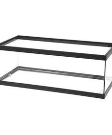 AQUEON Standard Aquarium - Black Frame - 30 gal Breeder - Clear Silicone