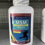 Body Science MSM 1000mg 200 Capsules