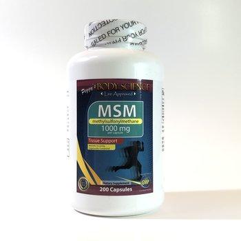 Body Science MSM 1000mg 200 Capsules