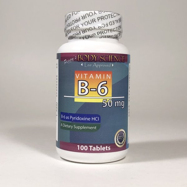 Body Science Vitamin B-6 50mg 100 Tablets