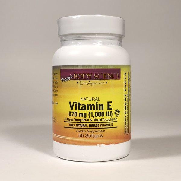 Body Science Vitamin E 1000 IU 670mg 50 Softgels