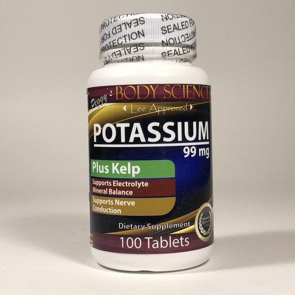 Body Science Potassium+ 99mg 100 Tablets
