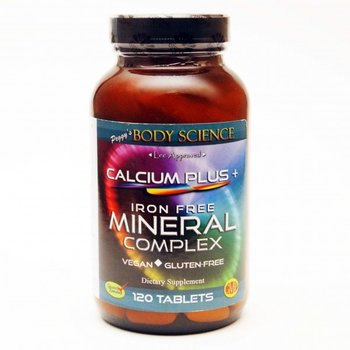 Body Science CALCIUM + MINERALS COMPLEX IRON FREE 120 TABLETS