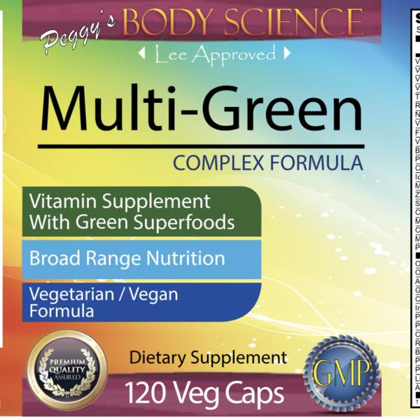 Body Science Multi-Green Complex Formula 120 Veg Caps