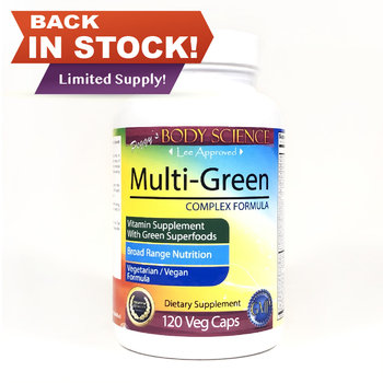 Body Science Multi-Green Complex Formula 120 Veg Caps