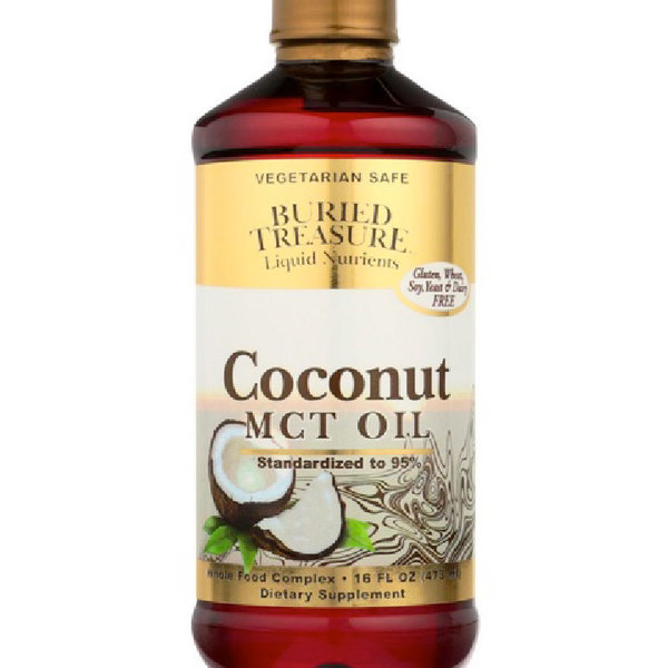 BURIED TREASURE MCT Oil Derived from Coconut Oil 16 fl oz