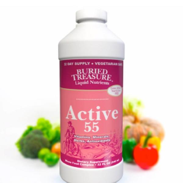 BURIED TREASURE Active 55 Plus Liquid Multi Vitamin 32 Fl Oz