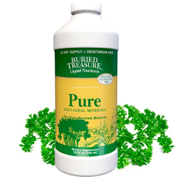 BURIED TREASURE Pure Colloidal Minerals 70 Plus Plant Derived Liquid Minerals