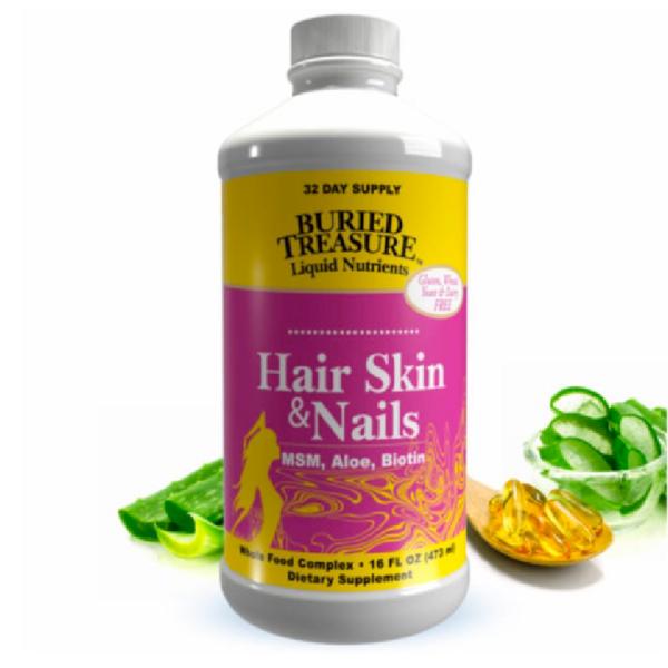 BURIED TREASURE HAIR SKIN+ NAILS COMPLETE 16 FL OZ