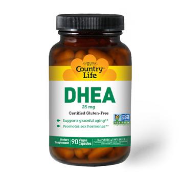 COUNTRY LIFE DHEA 25MG 90 Vegan Capsules