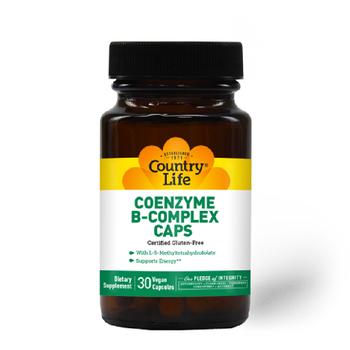 COUNTRY LIFE Coenzyme B-complex 30 Vegan Capsules