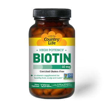 COUNTRY LIFE Biotin 10 mg 120 Vegan Capsules