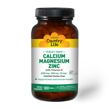 COUNTRY LIFE TARGET MINS CAL - MAG - ZINC 180 Tablets