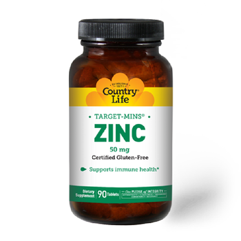 COUNTRY LIFE Target Mins  ZINC 50mg 90 Tablets