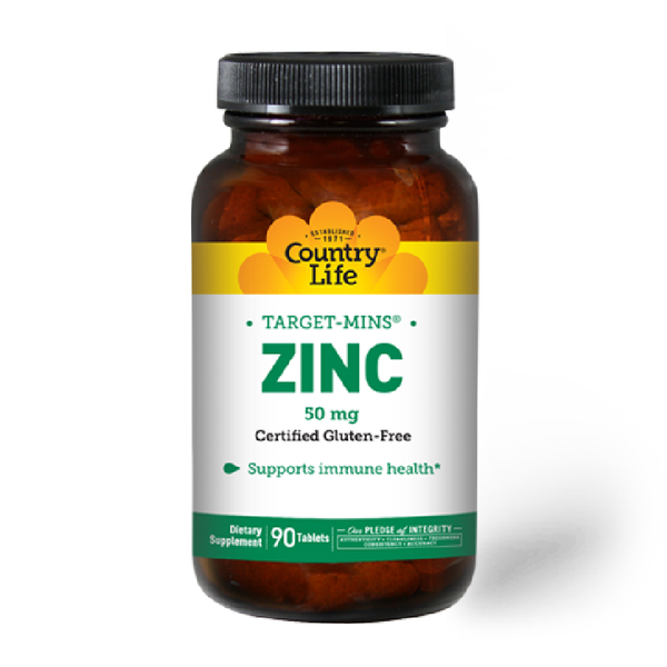 COUNTRY LIFE Target Mins  ZINC 50mg 90 Tablets
