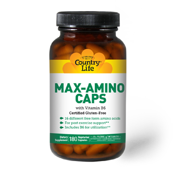 COUNTRY LIFE MAX - AMINO With B - 6 180 Veg Caps