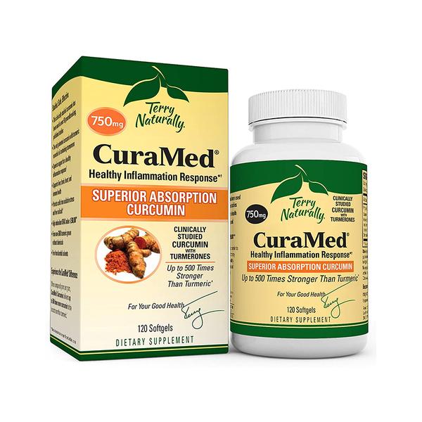TERRY NATURALLY Curamed 750 mg Superior Absorption Curcumin 120 Softgels