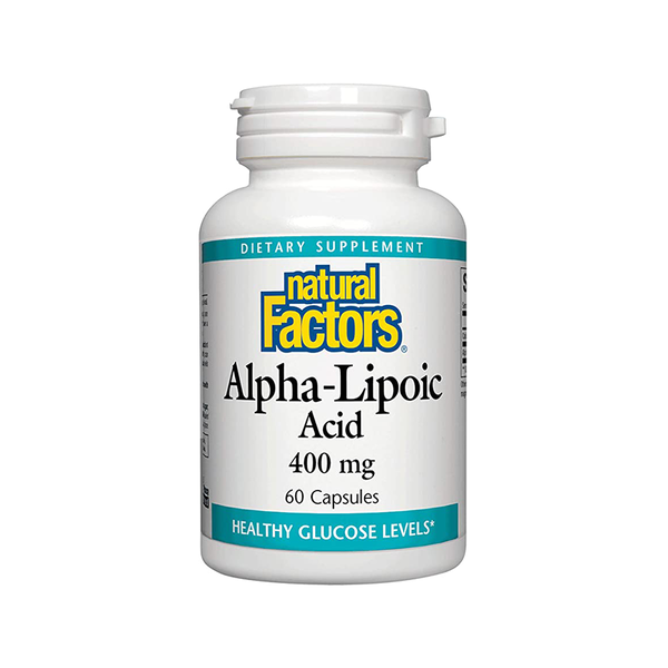 NATURAL FACTORS Alpha Lipoic Acid 400mg 60 Capsules