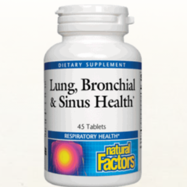 NATURAL FACTORS Lung, Bronchial & Sinus Health 90 Tablets