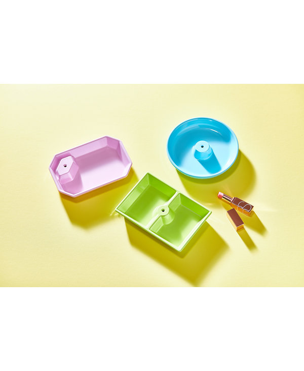 Dainty Dishes Set of 3 in Pink, Blue, and Green