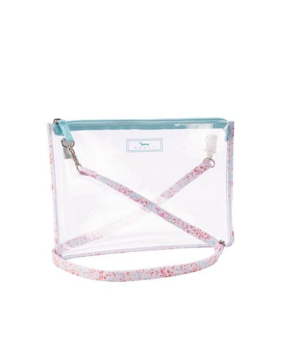 Clear Abby Crossbody Bag in Splatti LaBelle