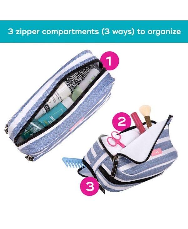 3-Way Toiletry Bag in Call Me Wavy