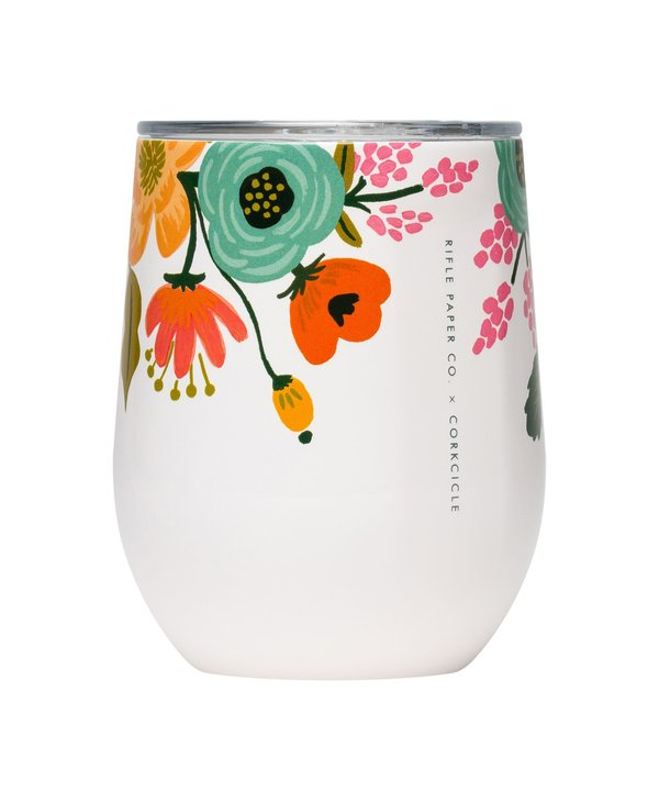 12oz Stemless in Lively Floral Cream