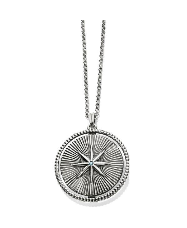 Halo Rays Round Pendant Necklace