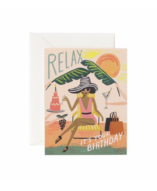 Relax Birthday Card