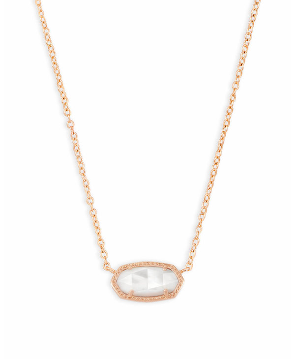 Elisa Pendant Necklace in Ivory Mother-of-Pearl