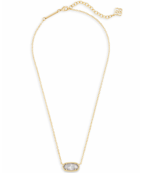 Elisa Pendant Necklace in Slate Cats Eye