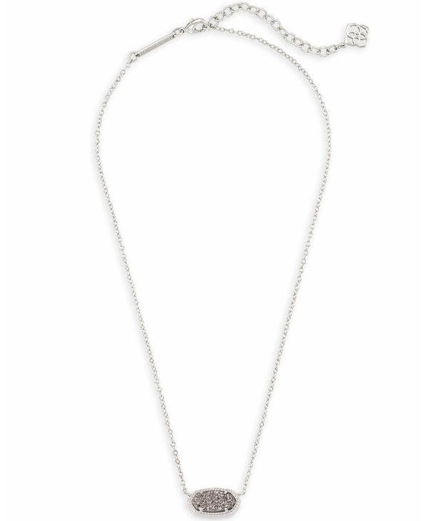 Elisa Pendant Necklace in Platinum Drusy