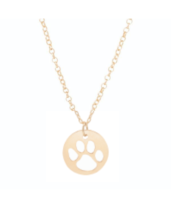Paw Print Gold Necklace
