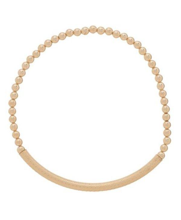 Bliss Bar Textured Gold Bracelet in 3mm Beads