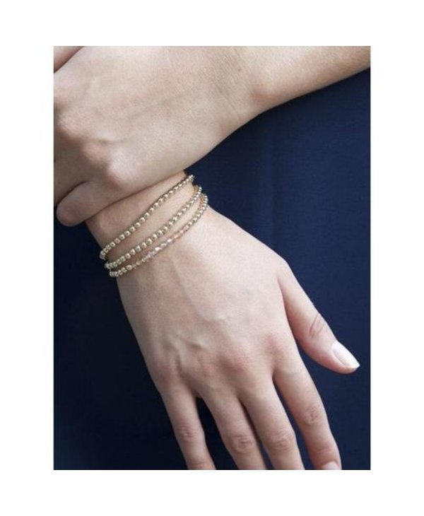 Classic Gold Bracelet in 4mm Beads