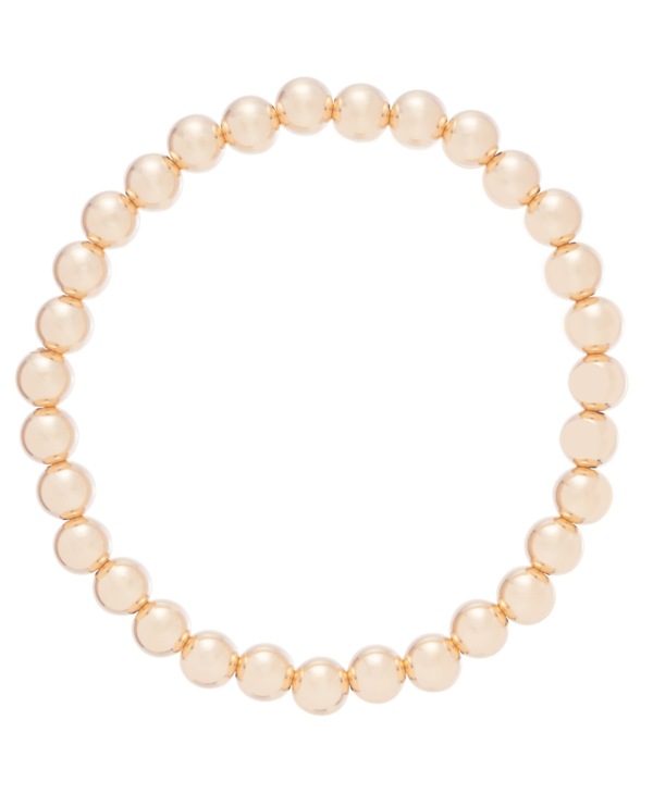 Classic Gold Bracelet in 6mm Beads