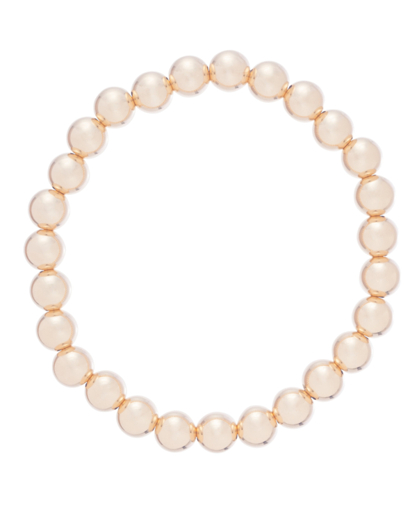 Classic Gold Bracelet in 7mm Beads