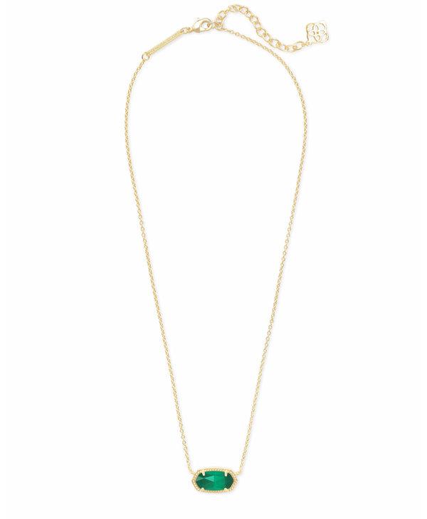 Elisa Pendant Necklace in Emerald Cats Eye