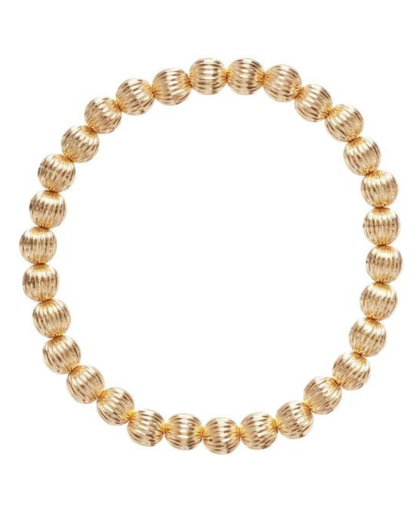 Dignity Gold Bracelet in 6mm Beads