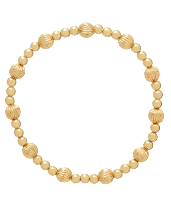 Dignity & Sincerity Gold Bracelet in 6mm Beads