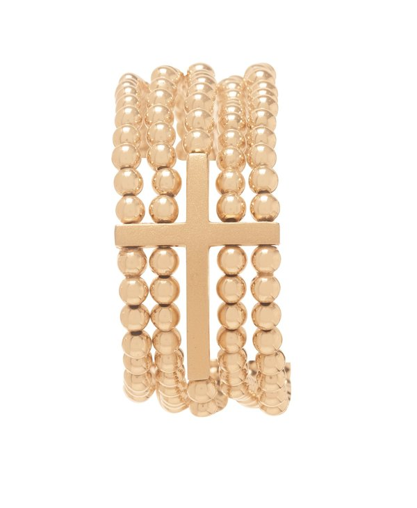 Dream Inspire Gold Bracelet in 4mm Beads