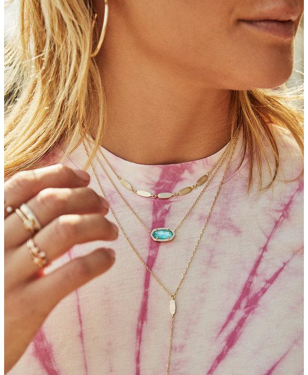 Elisa Pendant Necklace in Light Blue Illusion