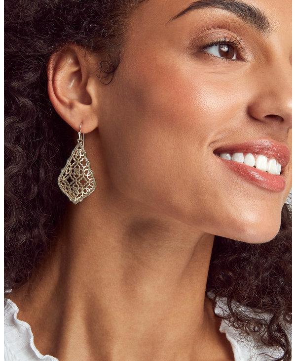 Addie Drop Earrings in Filigree