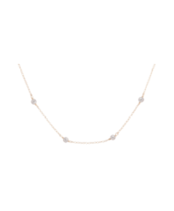 Simplicity Pearl Gold Choker in 4mm Beads