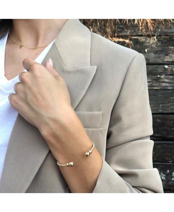 Classic Gold Cuff in 3mm Beads