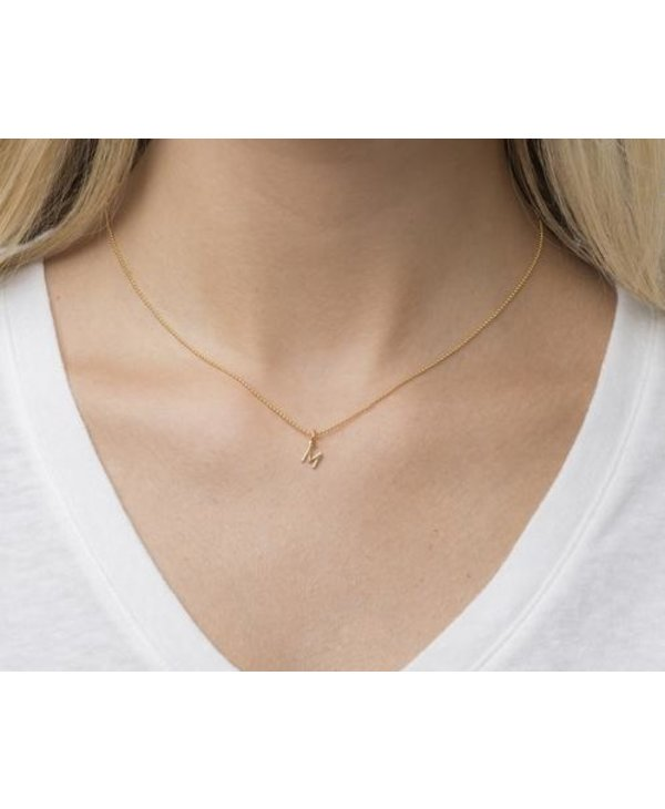 Classic Initial Gold Necklace